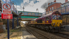 DB Class 66/0 no 66104 at Kirkby-In-Ashfield on 21-02-2015 with the 14:35 Toton to Warsop Junction (kevaruka) Tags: uk greatbritain winter england sun color colour colors sunshine station composition train canon eos flickr colours unitedkingdom shed railway sunny trains trainstation gb 5d february frontpage robinhood britishrail ashfield nottinghamshire sunnyday dbs kirkby 1635 eosdigital 2015 class66 ews networkrail railfreight kirkbyinashfield robinhoodline dbschenker canon5dmk3 5dmk3 5d3 eos5dmk3 5diii thephotographyblog canoneos5dmk3 dbreilfreight ilobsterit