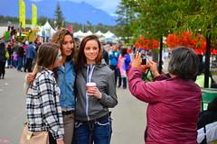 Group portrait at the Alaskan State Fair (radargeek) Tags: hat alaska cowboy cellphone ak palmer facepaint cowboyhat shootingtheshooter alaskanstatefair