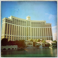 Bellagio Hotel LV (f l a m i n g o) Tags: las vegas lake hotel december bellagio iphone 2014 hipstamatic buckhorsth1lens robustafilm