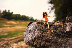 Watch your step! (patrickraful) Tags: wood nature canon river toy bokeh figure 24mm figurine toyphotography suzumiyaharuhinoyuutsu suzumiyaharuhi jfigure themelancholyofharuhisuzumiya figurephotography