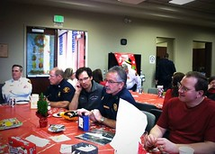 SVFD Admin Holiday Lunch (Spokane Valley Fire Department) Tags: holiday lunch fire celebration ornament administration exchange department admin svfd caferio spokanevalleyfiredepartment