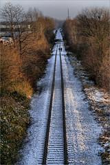 Railway-Winter-Walk (LL) Tags: schnee winter people snow walking leute railway menschen gelsenkirchen gleise schienen