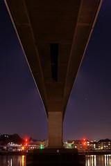 35-24 - Itchen Bridge (Hayden Watkins) Tags: bridge blue red reflection night 35mm project river sony alpha southampton 35 itchen a350