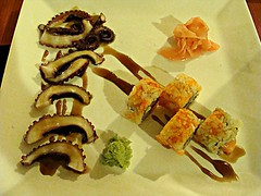 Mexican Sashimi (knightbefore_99) Tags: west art asian mexico japanese coast asia sashimi sunny playa mexican oaxaca tropical octopus secrets huatulco