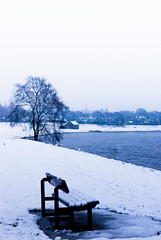 bench (pamelaadam) Tags: winter digital scotland fotolog aberdeen february 2009 riverdee thebiggestgroup