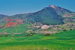 "A ""white village"" in Andalusia (Spain) (stevelamb007) Tags: mountain rural landscape spain farm vista fields oldphoto andalusia whitevillage stevelamb"