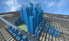 Total city (brendon.timm) Tags: world street city sky urban streets matrix skyline modern illustration bar skyscraper buildings computer real living office 3d model bars commerce order estate traffic box many render property poland center aerial semi rows virtual commercial level future era land metropolis hi boxes tall transparent residence total population residential trade rendered highly owner dense populated dwelling scyscrapers lefels