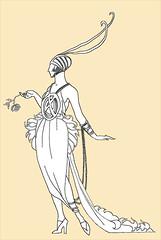 L'excentrique (Palais Galliera, Paris) (dalbera) Tags: paris france mode excentrique georgesbarbier palaisgalliera dalbera annéesfolles