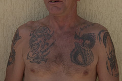 PAN MIREK_2145 (VonMurr) Tags: man male tattoo raw drawing poland pride prison brutal compromise primitiveart expresionism rawtattoo  maurycygomulicki nasielsk dziara  panmireknasielsk