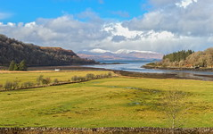 A Cottage with a View. (ant0191) Tags: sea sky snow mountains scotland nikon oban colonsay d610