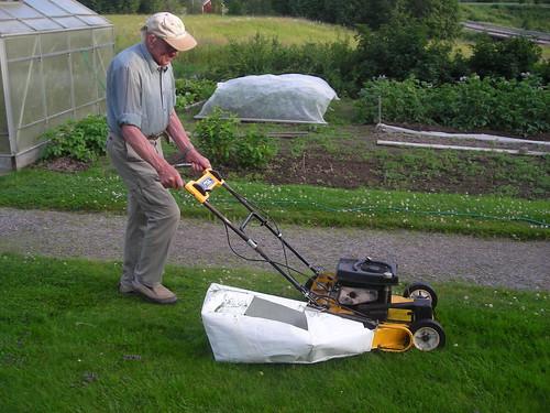 Uppsamling för gräsklippare
