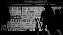Madness. (blackon.black) Tags: blackandwhite signs stairs subway hongkong prime sony sigma experience 60mm bnw mtr a6000 emount sigmaart