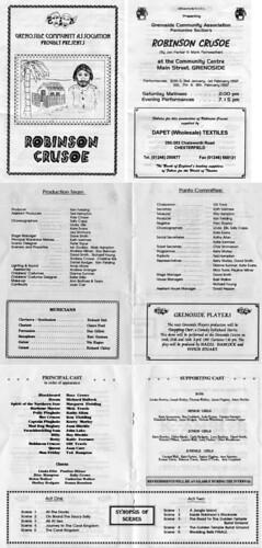 1997 Robinson Crusoe 00 Programme