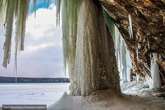 Grand Island, MI Ice Caves (Dan's Storm Photos & Photography) Tags: lake snow ice nature water weather mi landscape landscapes lakes icicle lakesuperior icecaves icecave munising grandislandicecaves