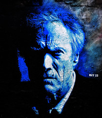 Clint Eastwood (HBA_JIJO) Tags: portrait urban streetart cinema paris france celebrity art wall painting graffiti star stencil artist spray peinture idol actor mur clinteastwood pochoir acteur pochoiriste hbajijo bzt22