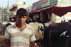 #006 (Sheikh Shahriar Ahmed) Tags: street portrait man film analog cattle eid streetlife fujifilm konica dhaka bangladesh seller banasree eiduladha hexanon50mmf17 fujicolorc200 dhakadivision  aftabnagar konicaautoreflext3n sheikhshahriarahmed