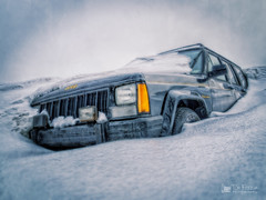 Winter from Hell (view[ ¤ ]finder) Tags: winter snow cold frozen jeep buried snowstorm apocalypse chilly blizzard hdr thaw snowbank engulfed nuclearwinter zd photomatixpro nikcolorefexpro 1442mm atomicwinter snowmageddon olympusepl2 snapseed niksnapseed olympusmzuiko1442mmf3556iir winter2015