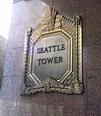 Sea15b33 Seattle Tower Sign (CanadaGood) Tags: usa america washington wa seattle building downtown sign 2015 thisdecade canadagood colour color text