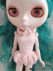 Hand knit Poofy Panty Onesie for Blythe