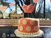 Bird and Polka Dots Baby Shower Cake