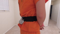 DJI_0265 (boblaly) Tags: orange prison prisoner jail inmate handcuffs cuffed shackled shackles chains chained restraints detention convict arrested belly chain jumpsuit uniform