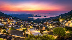The Mountian Villages (Mr.Saengphon) Tags: architecture canon city ef1635f4lisusm eos70d formosa jiufen landmark landscape light longexposure mountian outdoor sky sunset taiwan taiwancityscape taiwanlandscape twilight urban ruifangdistrict newtaipeicity tw