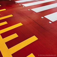 Pedestrian Crossing (aus.photo) Tags: ausphoto australia australiancapitalterritory act canberra cbr turner pedestriancrossing zebracrossing colour colours yellow white red road street rainy rainyday crosswalk