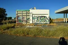 Good Advice (rickele) Tags: motion abandoned graffiti i5 gasstation vacant yolocounty outofbusiness 831 shadowselfie dunnigancalifornia