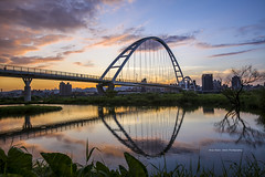 (Chia Hsien) Tags: sunset sky reflection clouds canon view outdoor taiwan  taipei   invertedimage   canonef1635mmf28liiusm  newtaipeicity