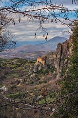 meteora monastery (mika_wist) Tags: greece meteora mountains clouds monastery cliffs