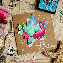 Nessie on Vacation (colorful capricorn) Tags: lawnfawn copicmarker distressinks ranger card handmade cardmaking papercrafting stamping coloring crafting summer fun lochness legend nessie