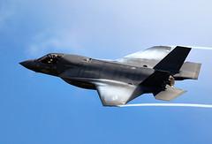 F-35B Lightning (Bernie Condon) Tags: usmc flying fighter display aircraft aviation military jet airshow marines lightning bomber farnborough fbo f35 usmarines lockheedmartin vstol lightningii f35b