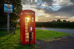 Stoke bardolph Nottingham (daniel gigliotti2012) Tags: nottingham uk red england tramonto cabina sole rosso stoke luce paesaggio telefonica bardolph