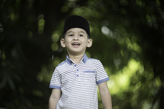 Laughing Out Loud (hakimhasnul) Tags: family boy children bokeh sony muslim swirl swirly helios mirrorless bokehlicious helios40 helios85mm a7s sonyasia