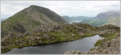 Haystacks summit. (stu.bloggs..Dont do Sundays) Tags: landscape lakedistrict haystacks summit highcrag crummockwater rocks rockyoutcrops lake views vista buttermeremoss cumbria summer 2016 tarn mountains fells melbreak paths crummock water peaks