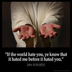 John 15:18 (@CHURCH4U2) Tags: bible verse pic image picture daily john 1518 king james version kjv