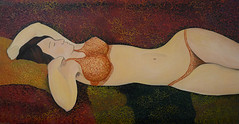reclining nude (Maslova Artist) Tags: nude nu reclining oil cardboard girl woman sleeping paintng for sale
