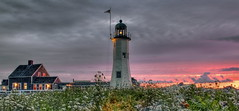 Scituate Light (DeadDogsEye) Tags: hdr deaddogseye scituate southshore sunset sunrise sky lighthouse lighthouses light cedar cedarpoint massachusetts