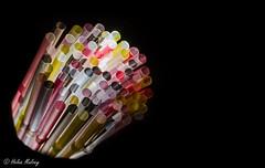 Straws 23 September 16 2 (Helen Mulvey) Tags: straws flash colour still ilfe abstract art nikon d5100 experiment