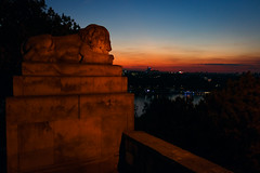 Keeper of the Belgrade (Master Iksi) Tags: beograd belgrade lion monument sculpture srbija serbia canon 700d landscape sky skyline outdoor kalemegdan sunset street