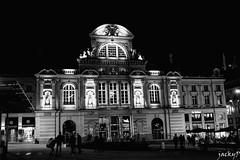 Le Grand Theatre (Pierrot 49) Tags: architecture blackandwhite blackandwhiteonly noiretblanc nightfoto night monochrome city france angers
