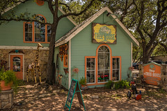 The Tree House (Jims_photos) Tags: thetreehouse wimberleytexas antiquestore texas trees outdoor outside oldmemories adobelightroom adobephotoshop shadows daytime downtown jimallen lightroom vintage nopeople memories arctitectual architecture