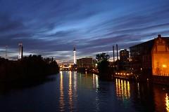 Berliner Nacht (pixpressionismus) Tags: berlin nacht fernsehturm lichter reflektionen sonnenuntergang