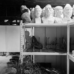 #sculpture #studio #blackandwhite (Murat Ertrk) Tags: instagramapp square squareformat iphoneography uploaded:by=instagram studio sculpture trakya fine arts
