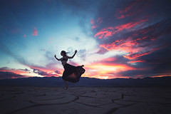 Kim Henry (ericpare) Tags: dancer sunset deathvalley california mudcracks kimhenry
