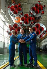 Expedition 48 Prelaunch (Thomas Pesquet) Tags: baikonur baikonurcosmodrome building112 esaeuropeanspaceagency expedition48 expedition48preflight katerubins kazakhstan olegnovitskiy peggywhitson rocket roscosmos soyuzms01 soyuzrocket thomaspesquet