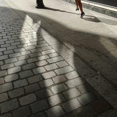 .. (lux fecit) Tags: paris shadow sidewalk running