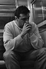 Miradas subterrneas (dul_conte) Tags: buenosaires noiretblanc philippedulauroy blackandwhite blancoynegro argentina argentine expoalberdi portrait subte underground cf