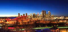 Calgary Downtown at Night (Bluesky251) Tags: beautiful clear night silent calgary alberta canada home urban saddledome sunset stars bow river downtown cityscape dark light