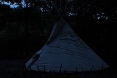 DSC_0343 (David.Sankey) Tags: catskills newyork newyorkstate autumn fall woods forest ny tipi teepee tent camping fire night